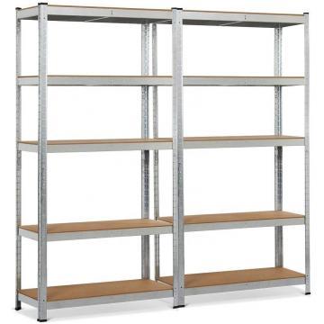 Multifunction 5 Tiers Freestading Storage Rack Adjustable Chrome Steel Wire Shelving Unit